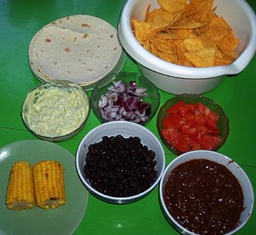 texas chili med tillbehör